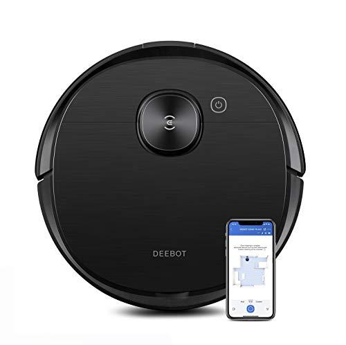 Ecovacs DEEBOT OZMO T8 AIVI Saug- & Wischroboter – 2-in-1 Staubsauger-Roboter mit aktiver Wischfunktion, intelligenter Navigation & cleverer Objekterkennung – Mit Google Home, Alexa- & App-Steuerung