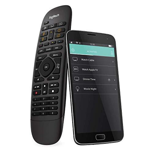 Logitech HARMONY COMPANION Universalfernbedienung, Für Kabelbox, Apple TV, fireTV, Alexa, Roku, Sonos und Smart Home-Geräten, Einfache Einrichtung mit App, LG/Samsung/Sony/Panasonic/Xbox/PS4 - schwarz