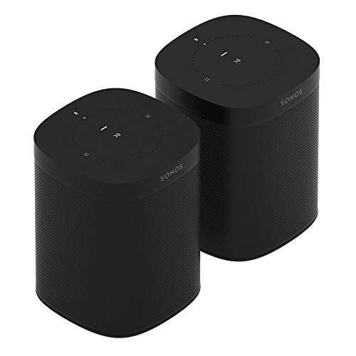 Sonos One Multiroom Set, schwarz (inkl. Sonos One Smart Speaker und Sonos One SL All-In-One Smart Speaker)