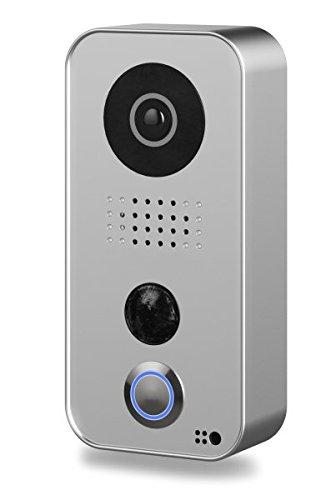DoorBird D101S 'Strato-Silver-Edition' WLAN-Video-Türsprechanlage mit Edelstahl-Frontplatte, Appsteuerung