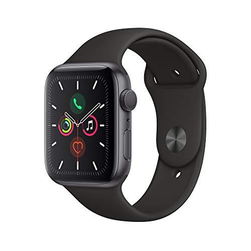 Apple Watch Series 5 (GPS, 44 mm) Aluminiumgehäuse Space Grau - Sportarmband Schwarz