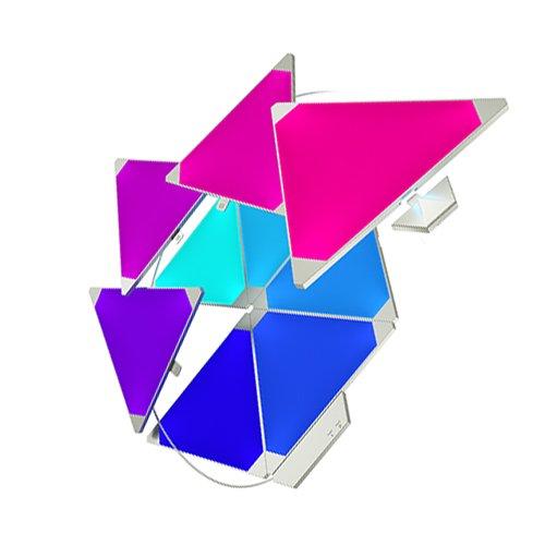 nanoleaf Light Panels Rhythm Starter Kit - 9x Modulare Smarte LED mit Sound Modul, App Steuerung [16 Millionen Farben, Alexa kompatibel, Plug and Play für iOS [Apple Home Kit kompatibel) & Android