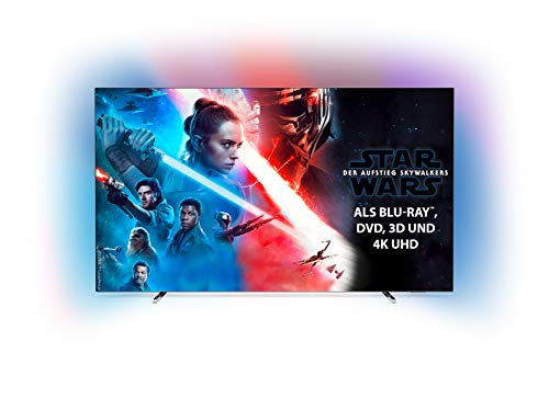 Philips Ambilight 55OLED804 139 cm (55 Zoll) Oled TV (4K UHD, HDR10+, Android TV, Dolby Vision, Google Assistant, Alexa kompatibel) [Modelljahr 2019]
