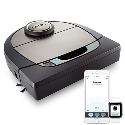 Neato Robotics D7 Intelligenter Saugroboter - Premium Saugroboter mit Ladestation, Wlan & App - Staubsauger Roboter, Alexa-kompatibel & für Tierhaare