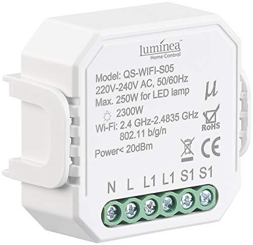 Luminea Home Control WLAN-Schalter Alexa: WLAN-Unterputz-Lichtschalter, App, für Siri, Alexa & Google Assistant (WiFi-Smart-Modul)