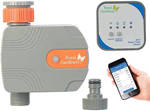 Royal Gardineer Bewässerungsanlage: Bewässerungs-Computer mit WLAN-Gateway und Steuerung per App (Bewässerungscomputer WLAN)