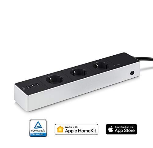 Eve Energy Strip - Smarte Dreifach-Steckdosenleiste (Deutsche Markenqualität) mit Verbrauchsmessung, Überspannungsschutz, TÜV-zertifiziert, WiFi (Apple HomeKit)