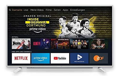 Grundig Vision 7 - Fire TV Edition (65 GUW 7060) 164 cm (65 Zoll) Fernseher (Ultra HD, Alexa-Sprachsteuerung, HDR) weiß [Modelljahr 2019]