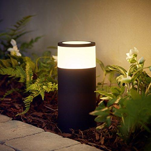 Philips Hue LED Wegeleuchte Calla Schwarz inkl. Hue White Color Ambiance, 1er Base-Kit | Garten-Beleuchtung, Outdoor