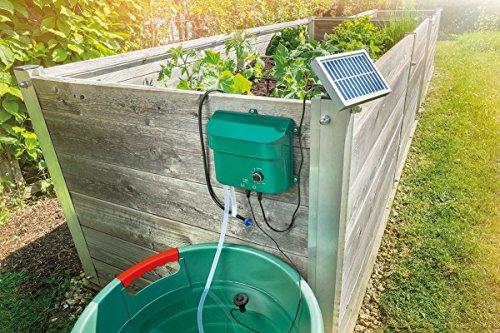 Solar Bewässerungssystem Waterdrops Komplettset Pflanzenbewässerung mit 15 Sprinklern Esotec 101100