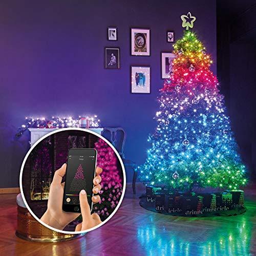 Lichterkette - TWINKLY – 2019 NEUE GENERATION II - SmartPhone, Alexa, Google Assistant & Musik kontrollierbar - 16,8 Millionen Farben - für Innen & Outdoor (3-Kanal 250 LEDs auf 20m Beleuchtungslänge)