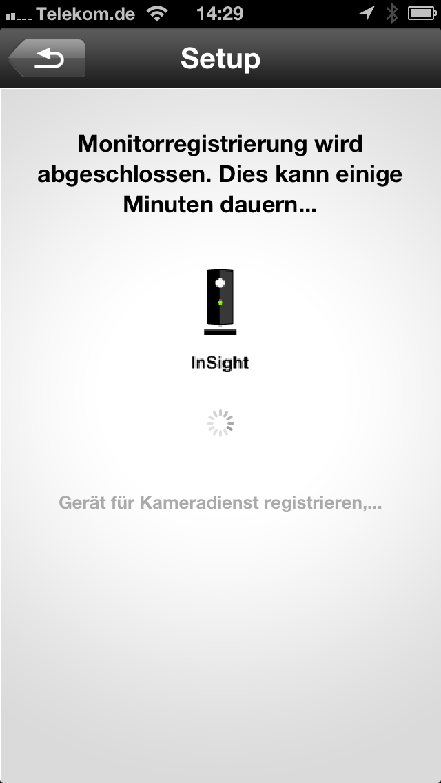 Screenshot der Philips In Sight App