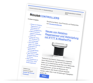 Smarthome-Newsletter (Screenshot)