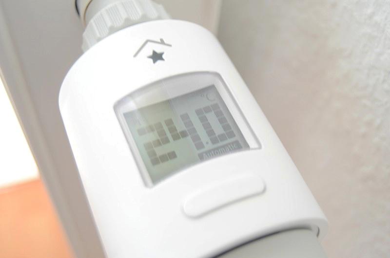 Display des Heizkörperthermostats von RWE