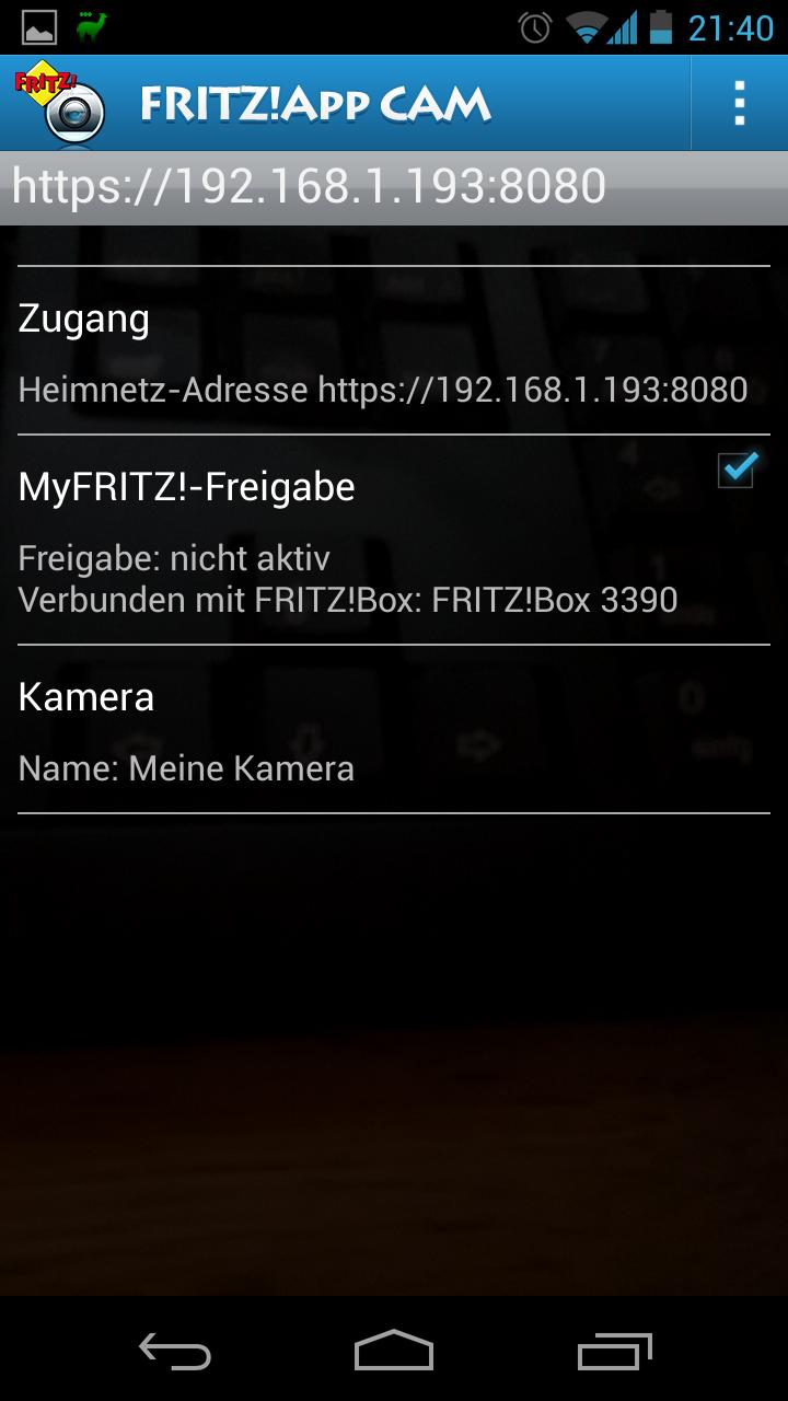 Android Handy als Überwachungskamera