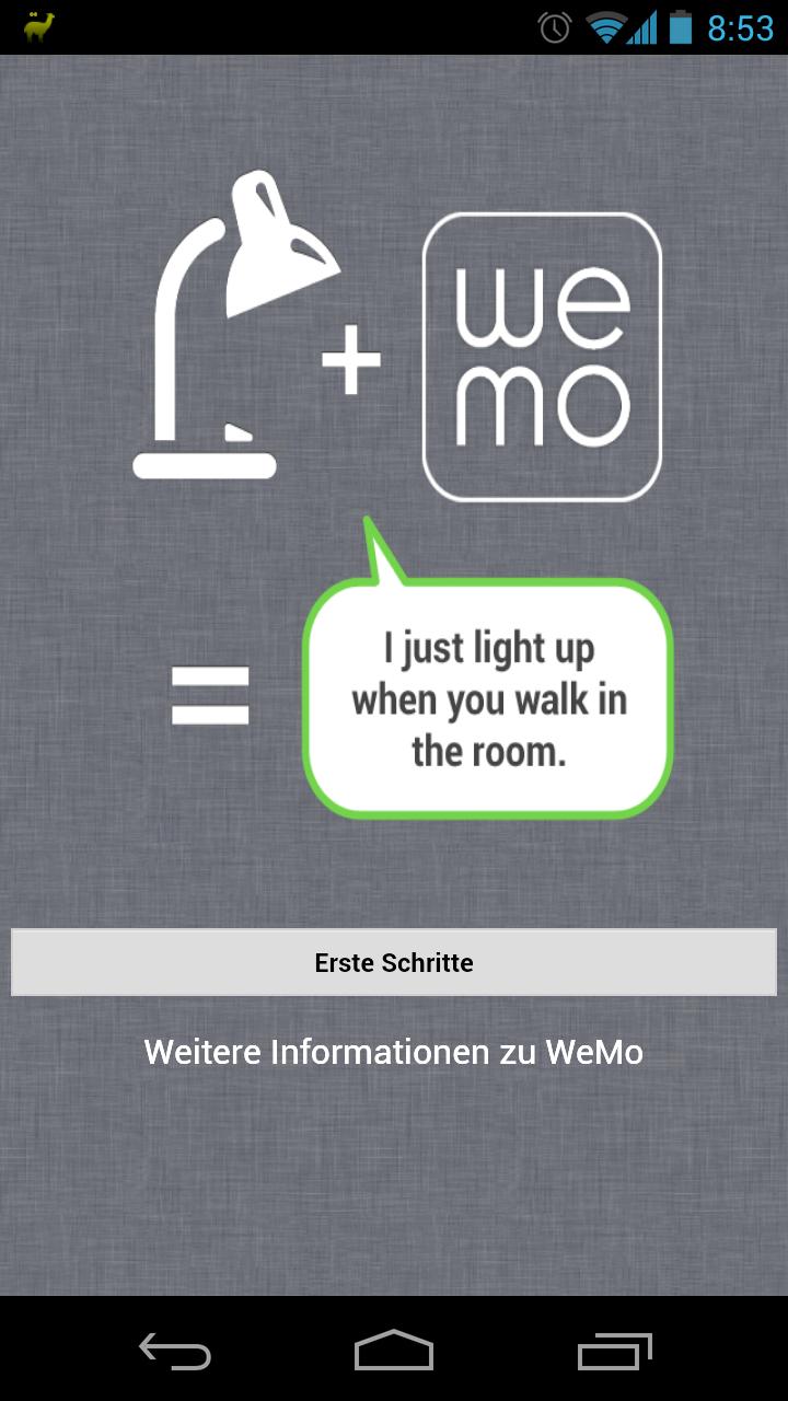Belkin WeMo Ersteinrichtung Android