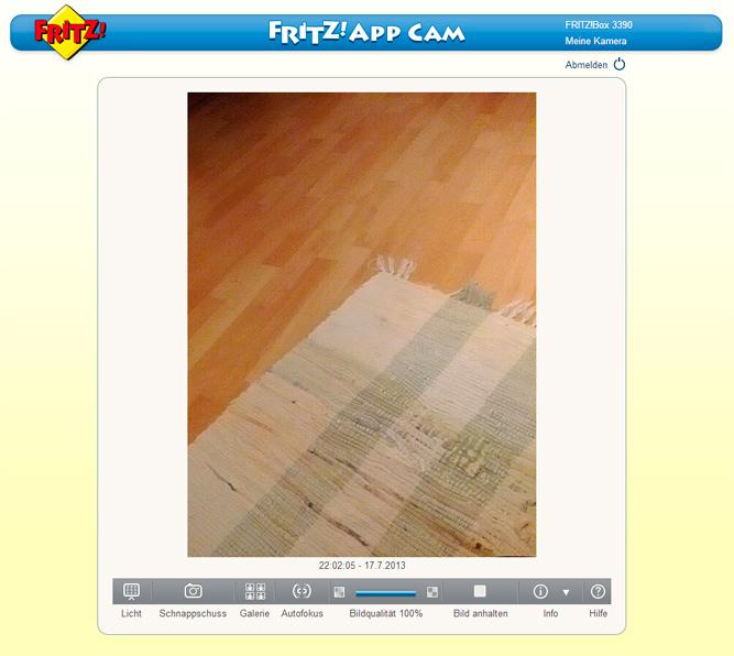 Fritz!App Cam - Livebild im Browser