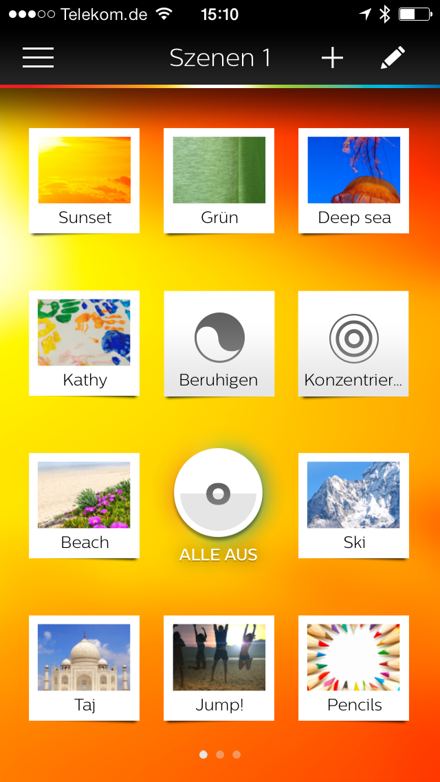 Screenshot: Hue App