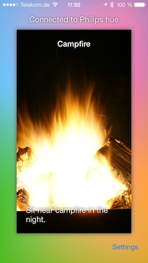 Philips Hue Lagerfeuer App