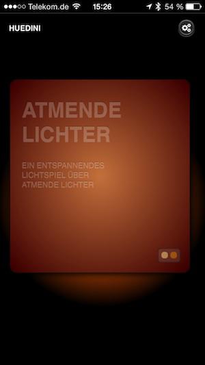 Huedini App für Philips Hue: Atmende Lichter