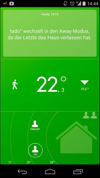 Tado App - niemand zuhause