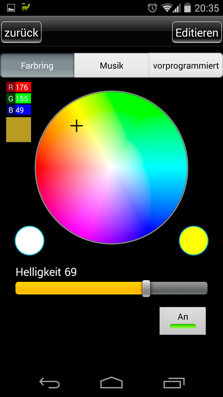 "App ""Magic Color v2"""