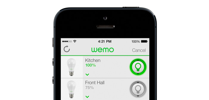 belkin wemo smart led lampen per app steuern housecontrollers. Black Bedroom Furniture Sets. Home Design Ideas