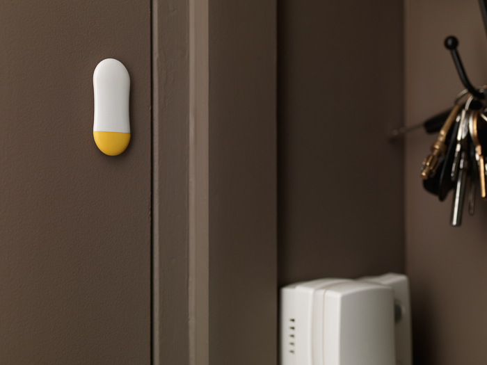 Sensor als Alarmanlage an der Tür