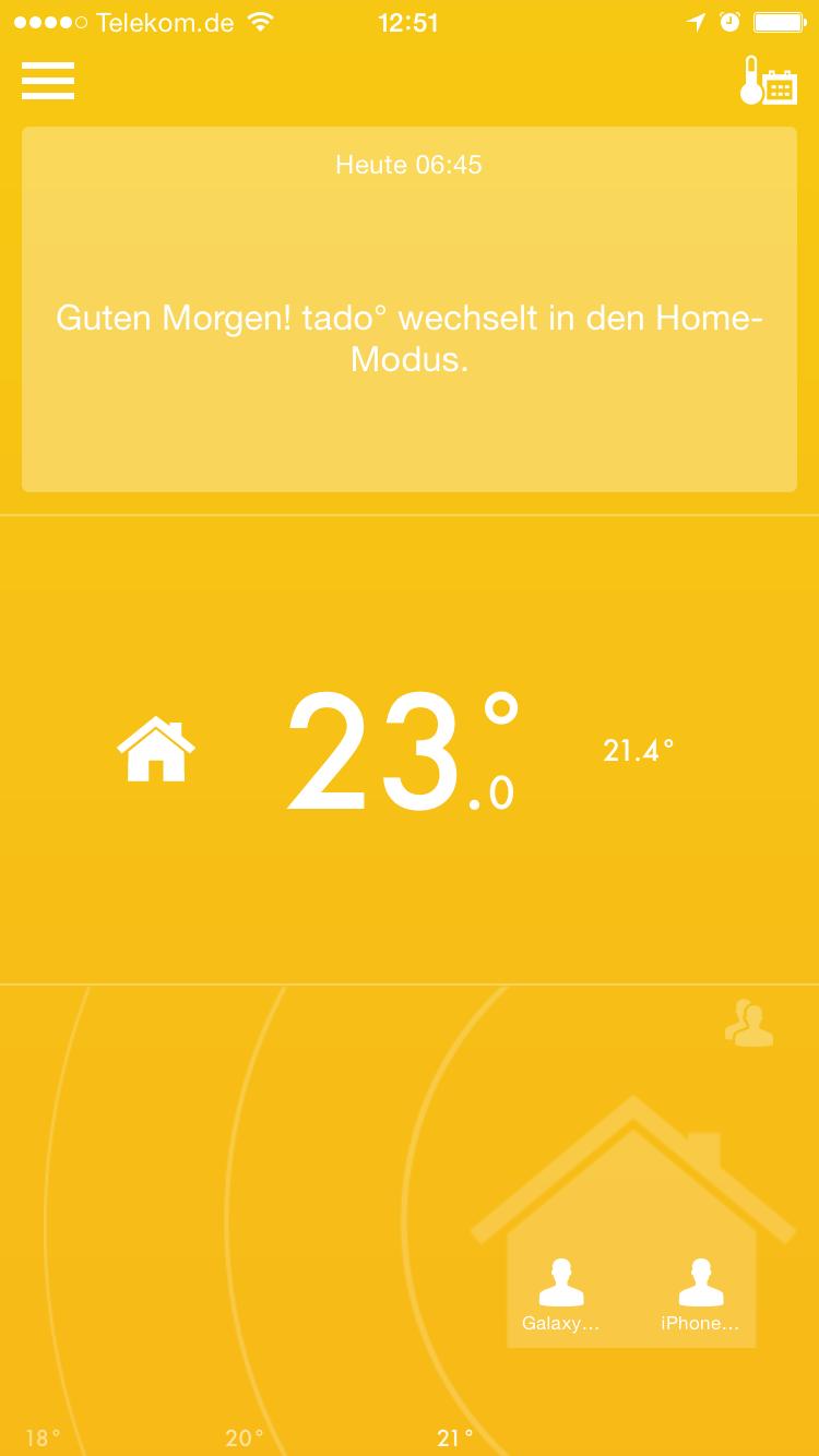 Tado App: Status