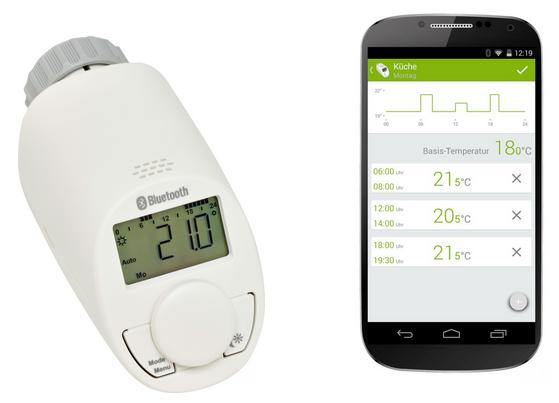 Heizkoerperthermostat mit App-Steuerung und Bluetooth
