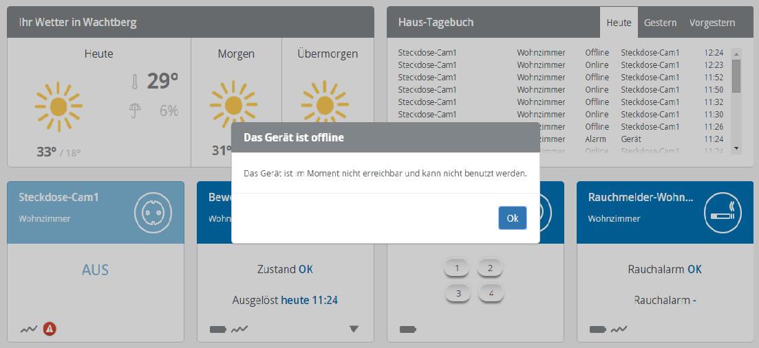 Devolo Home Control - Steckdose offline