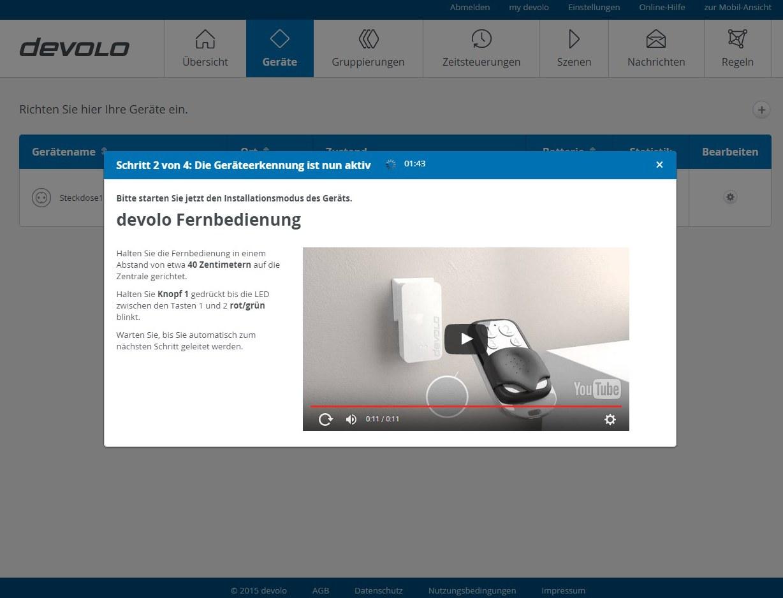 Devolo Home Control - Fernbedienung hinzufügen