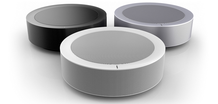 hiddenhub speaker 360 grad lautsprecher scannt den raum housecontrollers. Black Bedroom Furniture Sets. Home Design Ideas
