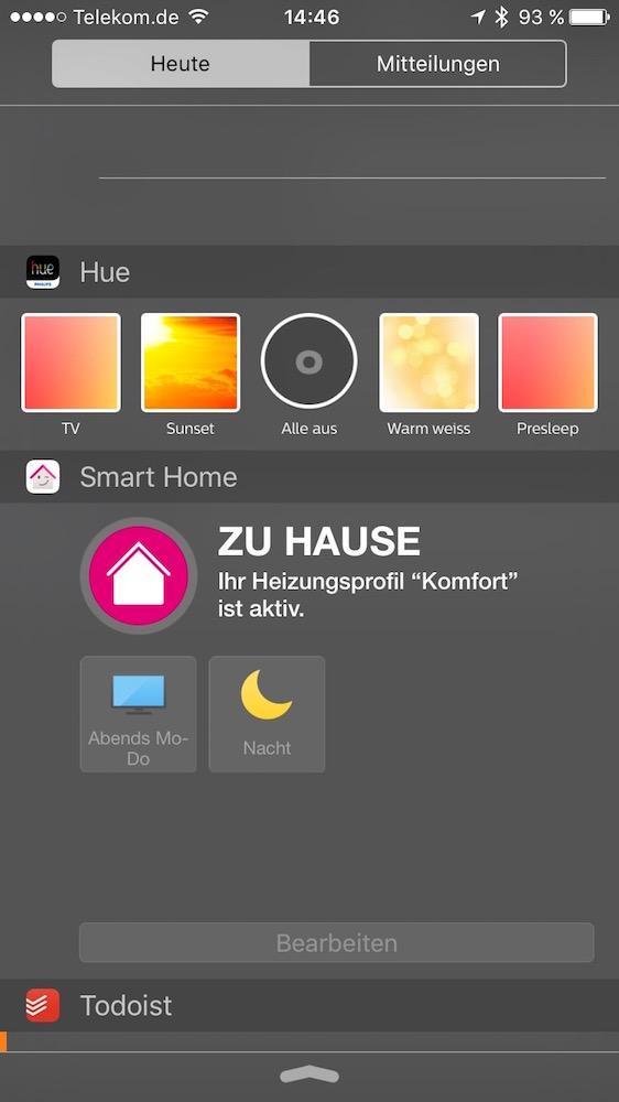 Qivicon App iOS Widget (Screenshot)