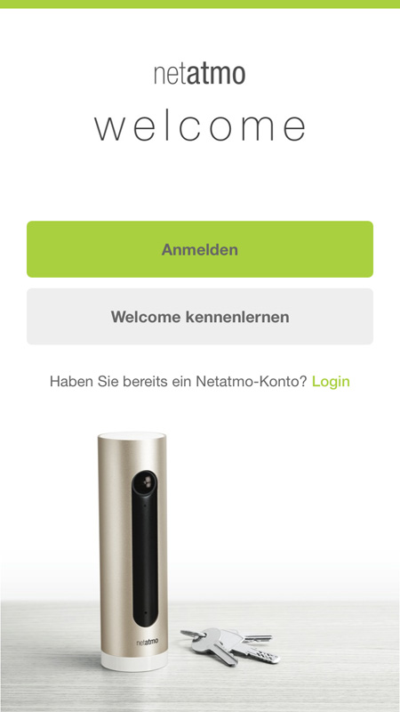 Netatmo Welcome App