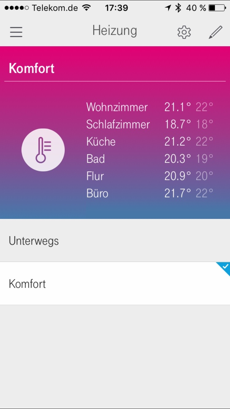 Magenta / Telekom Smarthome App