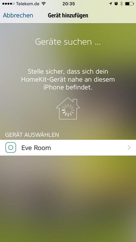 Elgato Eve Room wurde gefunden