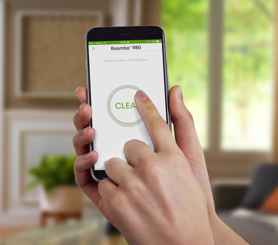 Saugroboter mit App-Steuerung