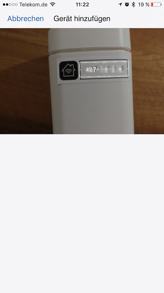 Elgato Eve Thermo: Smartphone App