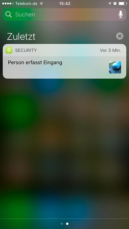 Benachrichtigung auf Apple iOS