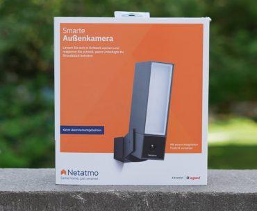 Für größere Ansicht Maus über das Bild ziehen VIDEO Netatmo Smarte Überwachungskamera Außen Test