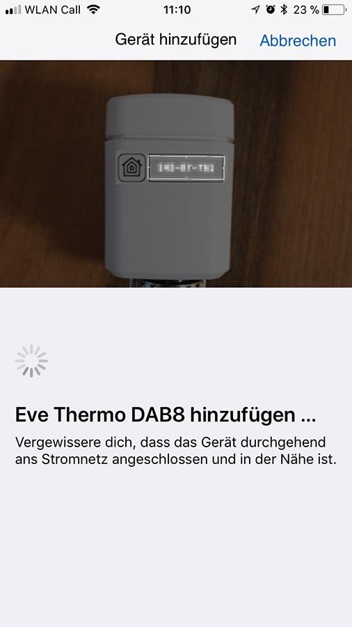 Elgato Eve Thermo Einrichtung