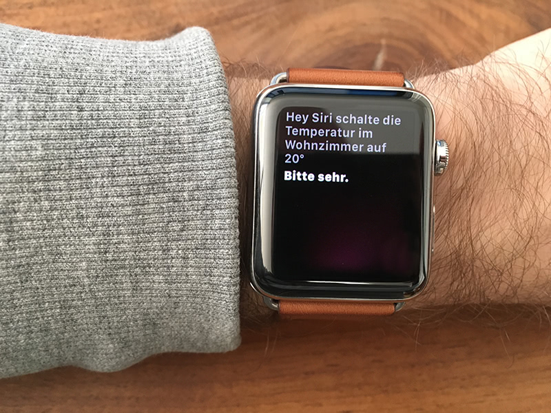 Siri auf der Apple Watch
