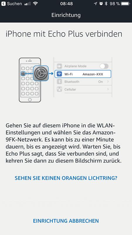 Amazon Echo Plus: Einrichtung