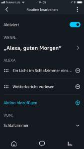 Amazon Alexa: Routine hinzufügen