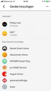 Smarthome Geräte hinzufügen in Google Home