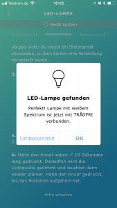Lampe wurde gefunden.