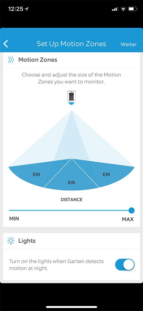 Ring App Bewegungsmelder