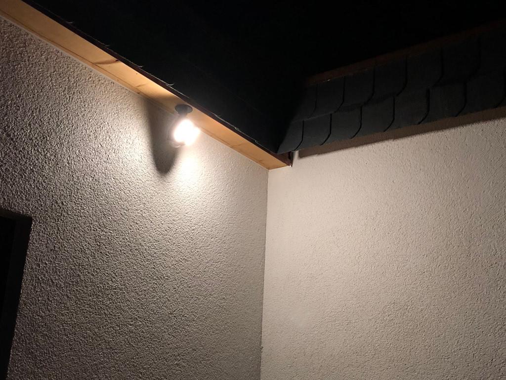Überwachungskamera mit LED-Licht