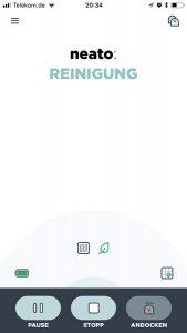 App-Ansicht während der Reinigung